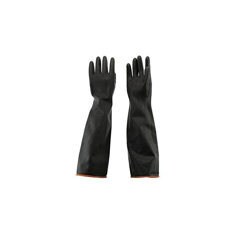 Abcrital - 55cm Gants en Latex Résistant aux Produits Chimiques Gants de Protection en Caoutchouc Étanche Résistant aux Acides/Alcalis pour
