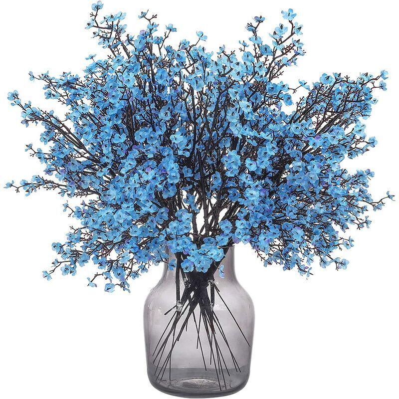 SUNFLOWER 6 Pièces Bébé Souffle Fleurs Faux Gypsophile Artificielle Bouquet Faux Soie Fleur Real Touch Fleur pour Hôtel Maison Bureau Cuisine Salle De Bains