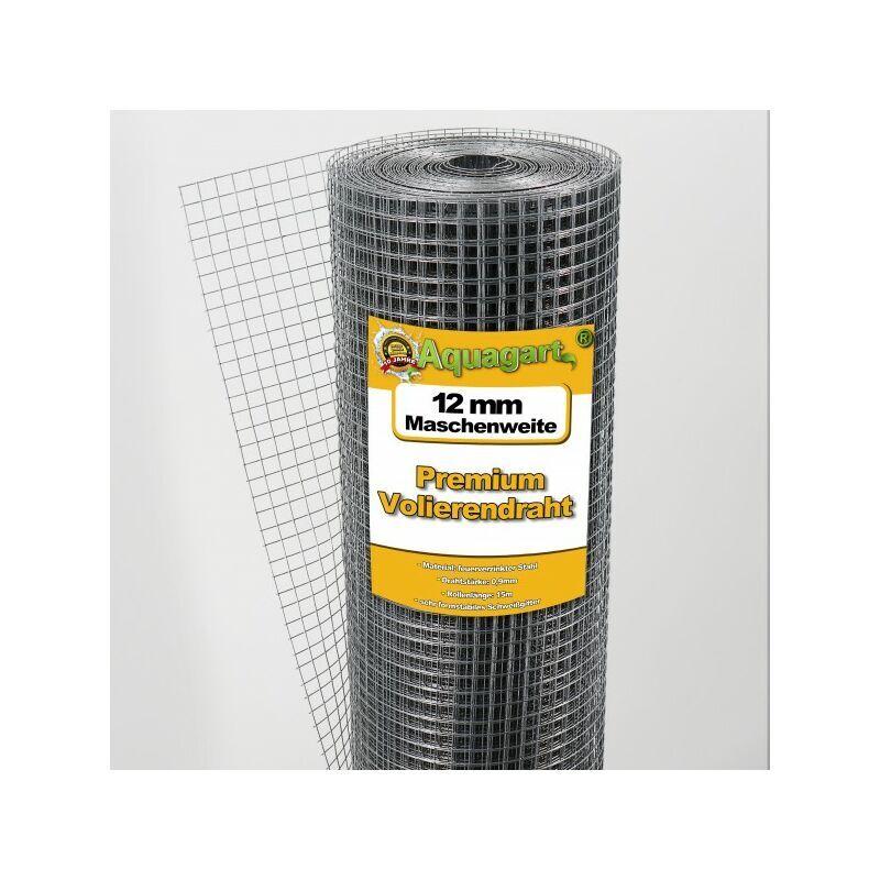 AQUAGART 75 m x 1m grillage pour volière, grille métallique, grillage soudé, clôture en fil de fer, galvanisé à chaud