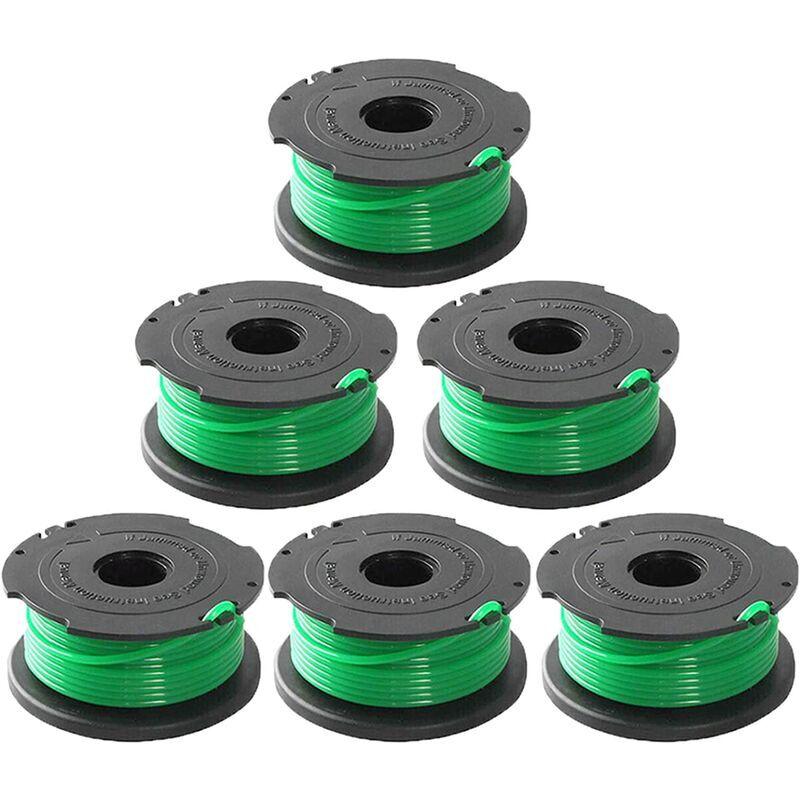 AIDUCHO Ligne de bobine d'alimentation automatique de remplacement pour coupe-bordure SF-080 de 20 pieds 0,080 pouce compatible avec pour Black et