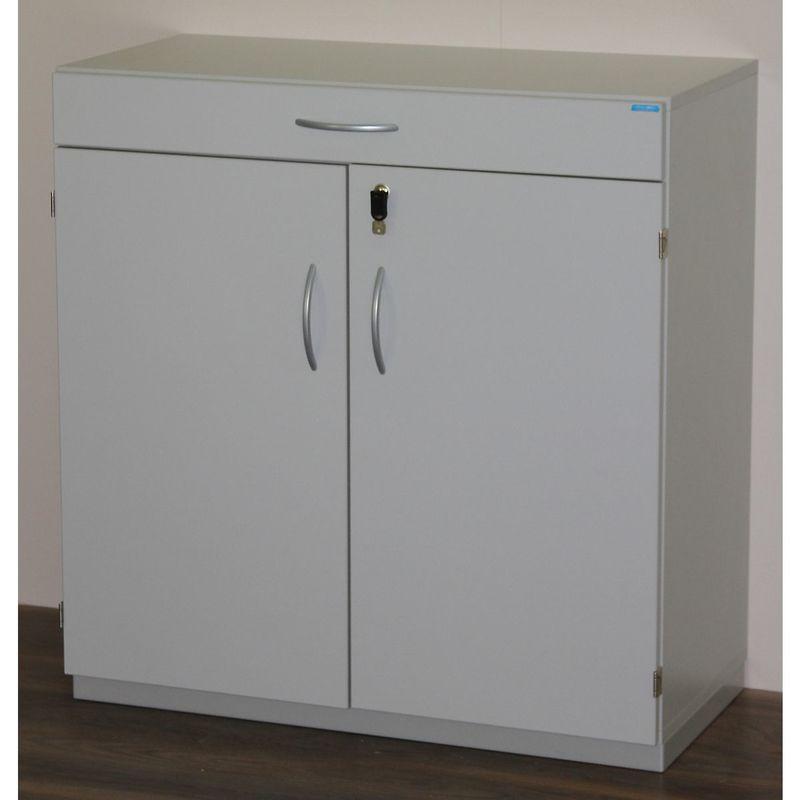 CERTEO OFFICE AKKTIV Armoire de ménage avec plateau de tri - h x l x p 942 x 913 x 440 mm, verrouillable - gris clair RAL 7035 - Coloris: Gris clair RAL 7035
