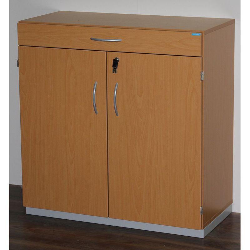 CERTEO OFFICE AKKTIV Armoire de ménage avec plateau de tri - h x l x p 942 x 913 x 440 mm, verrouillable - façon hêtre - Coloris: Façon hêtre