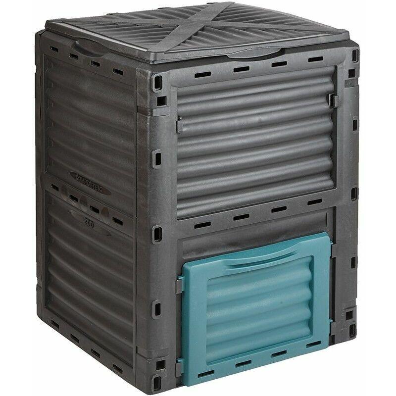 Trueshopping - Bac à compost Jardin avec Couvercle Recyclage Déchets alimentaires, Maison 300L