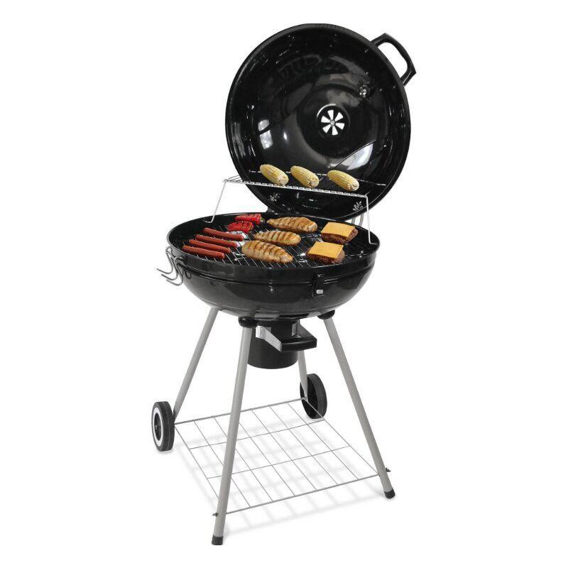 DAZHOM Barbecue Gril à tambour rond de ménage de jardin extérieur pratique