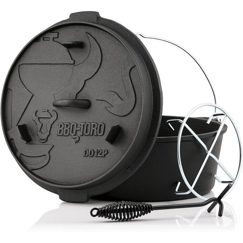 BBQ-TORO Dutch Oven DO12PX   13,6 litres   Premium marmite en fonte - Bbq-toro