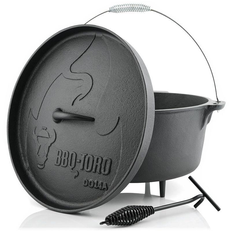 BBQ-TORO Dutch Oven DO14A   13,3 litres   Alpha marmite en fonte - Bbq-toro
