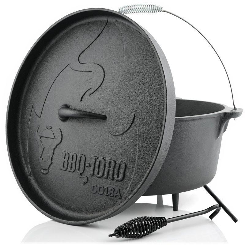BBQ-TORO Dutch Oven DO18A   19,0 litres   Alpha marmite en fonte - Bbq-toro