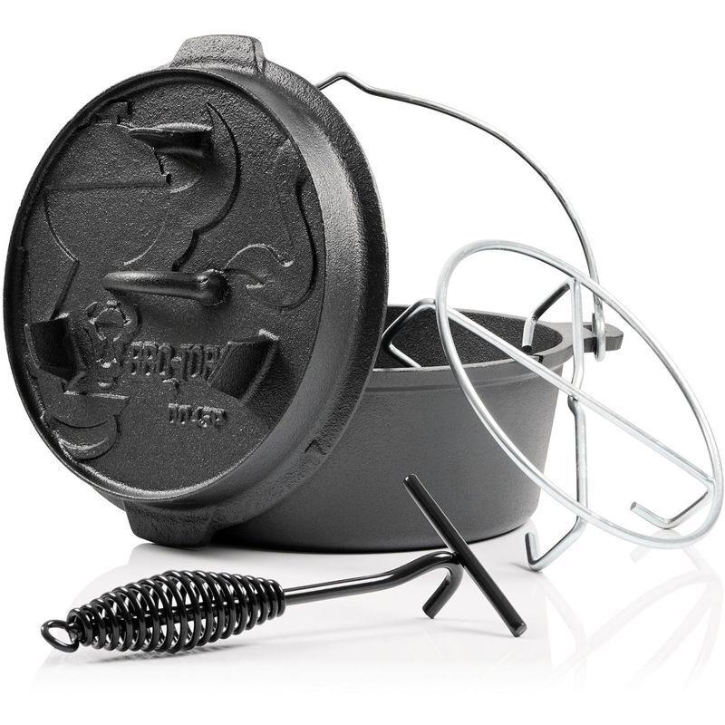 BBQ-TORO Dutch Oven DO45PX   4,2 litres   Premium marmite en fonte - Bbq-toro