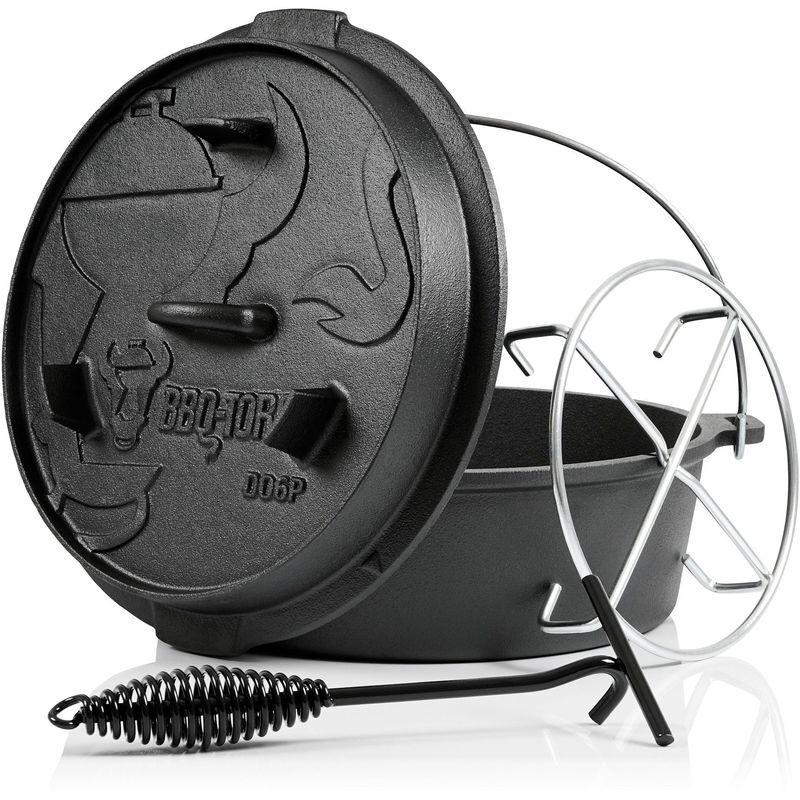 BBQ-TORO Dutch Oven DO6PX   7,3 litres   Premium marmite en fonte - Bbq-toro