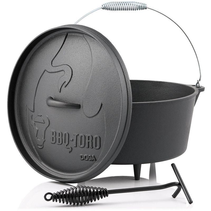 BBQ-TORO Dutch Oven DO9A   7,2 litres   Alpha marmite en fonte - Bbq-toro