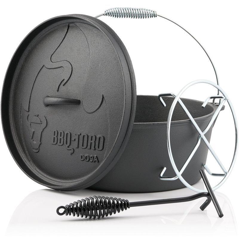 BBQ-TORO Dutch Oven DO9AX   7,2 litres   Alpha marmite en fonte - Bbq-toro