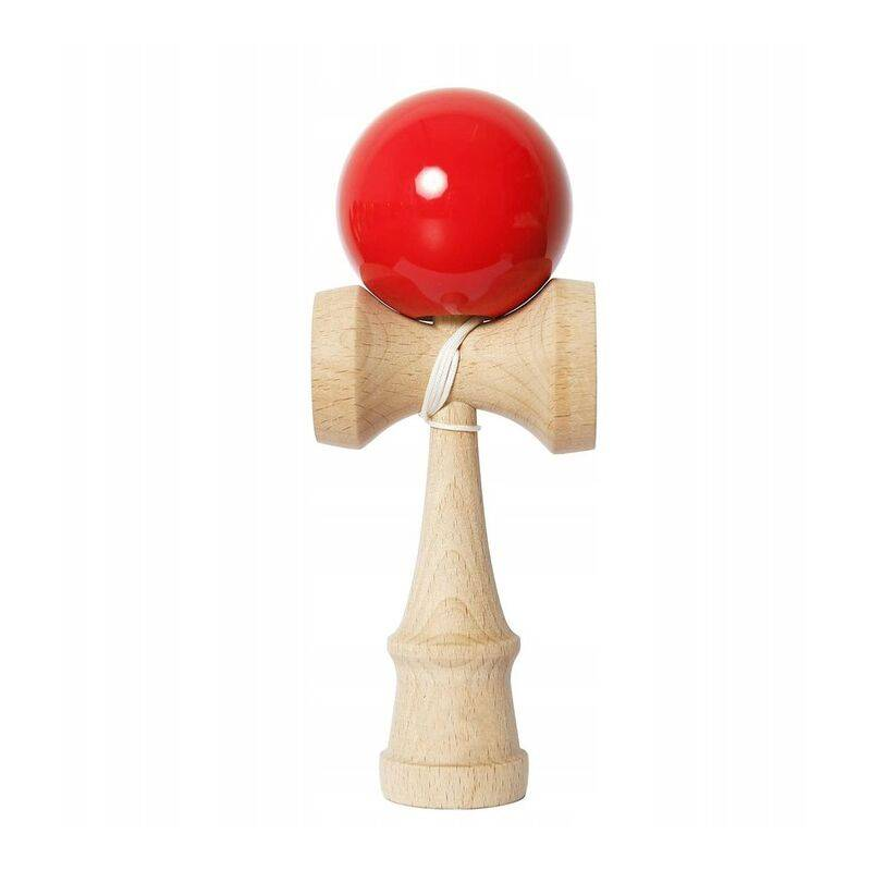 BETTERLIFE Grande boule de compétence japonaise Kendama Sword Ball Jouet en bois (rouge== - Betterlife
