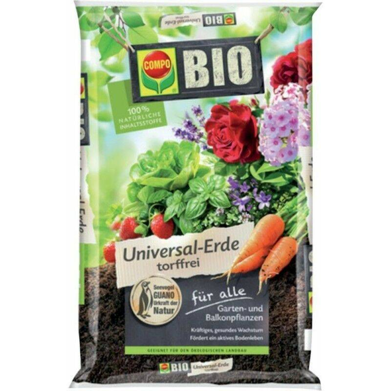 COMPO Bio Universal-Earth 40 l sans tourbe SANA® Universal sol sans tourbe - Compo