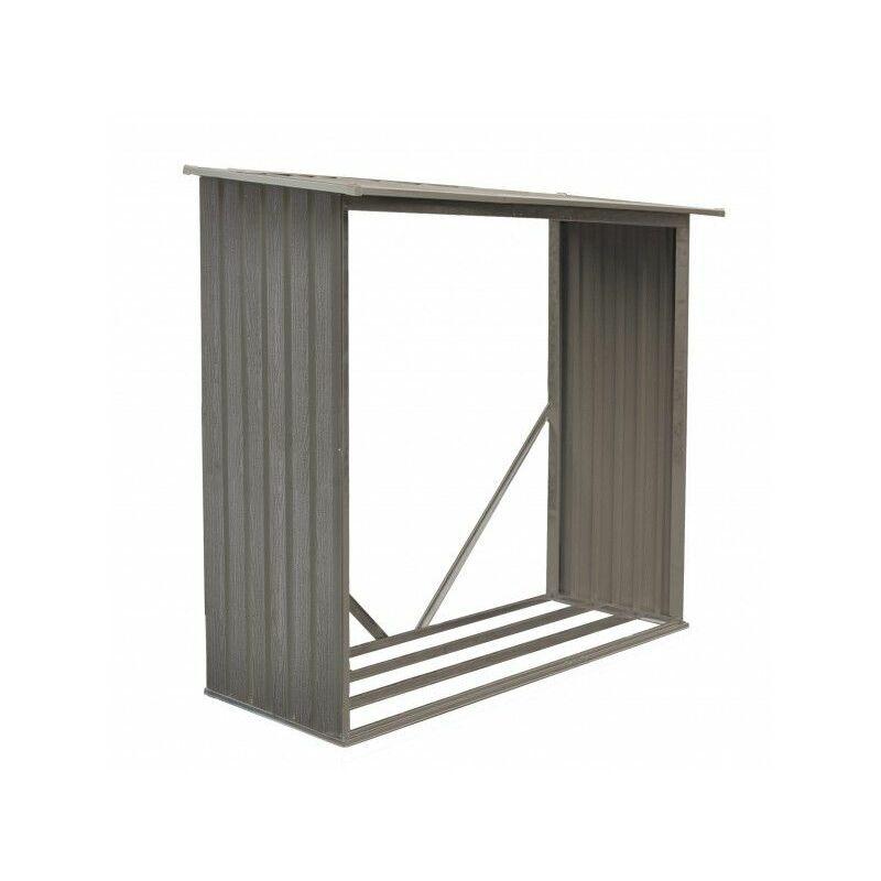CHALET & JARDIN Chalet&jardin - Bûcher métal aspect Bois vieilli - 1,37 m²