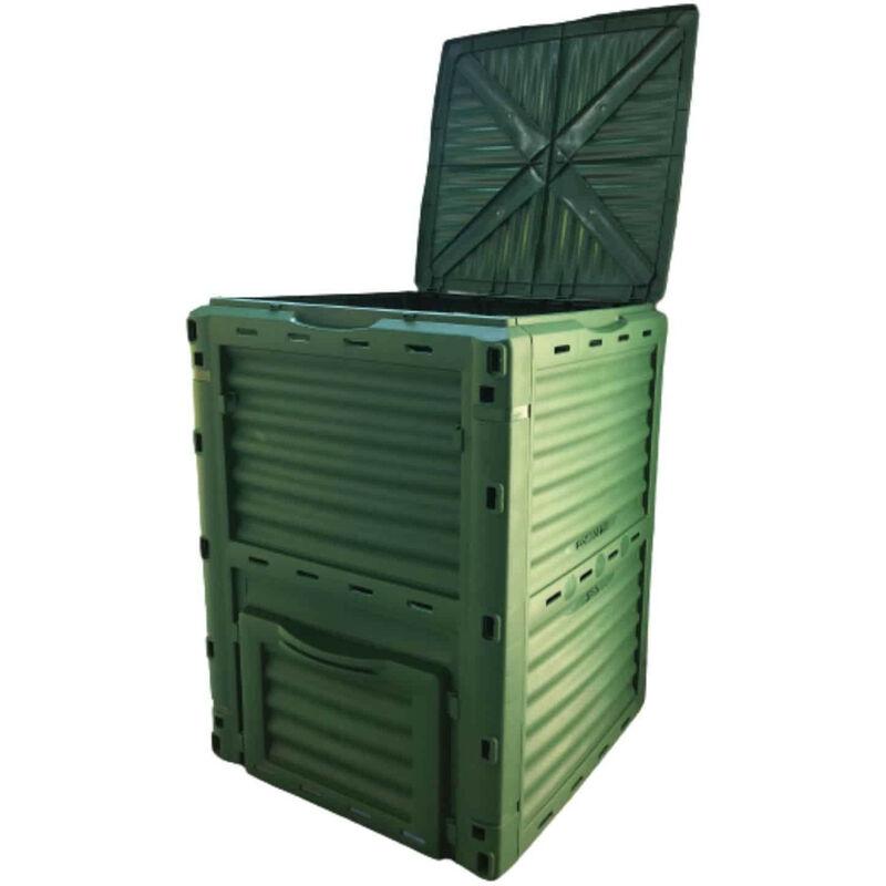 GARDIUN Composteur Gardiun New Organic 300 L 60x60x82 cm Polypropylène Recyclé