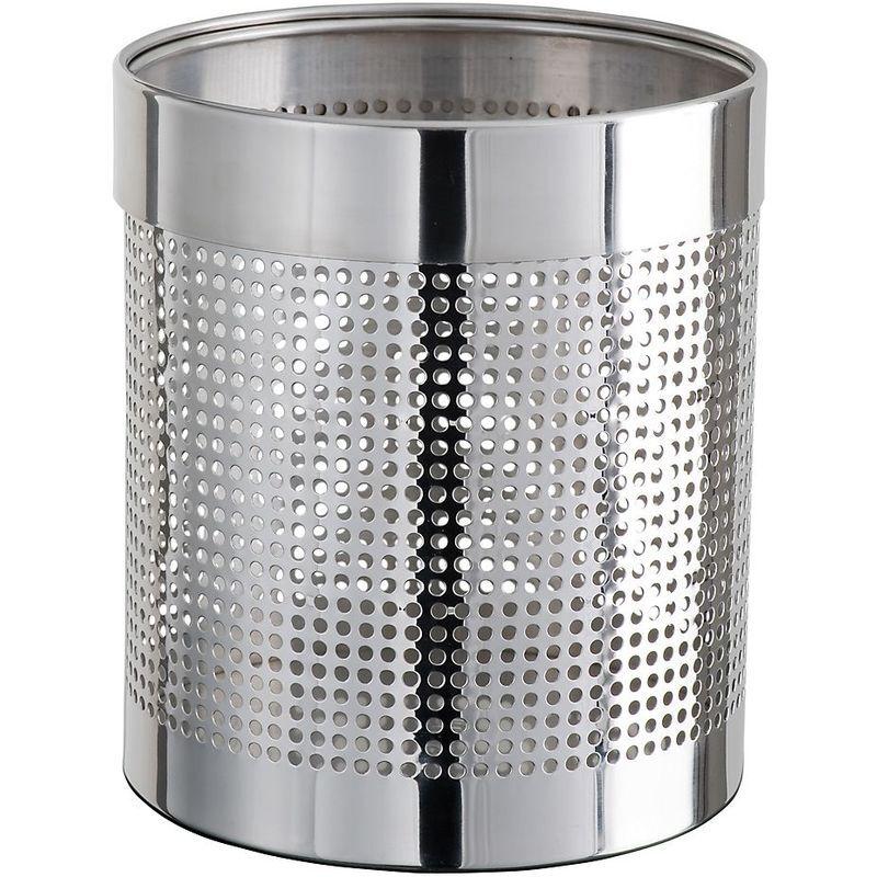 Medial - Corbeille à papier   acier inoxydable   Brillant   11 litres   230x280   Getsi inox   1 pièce