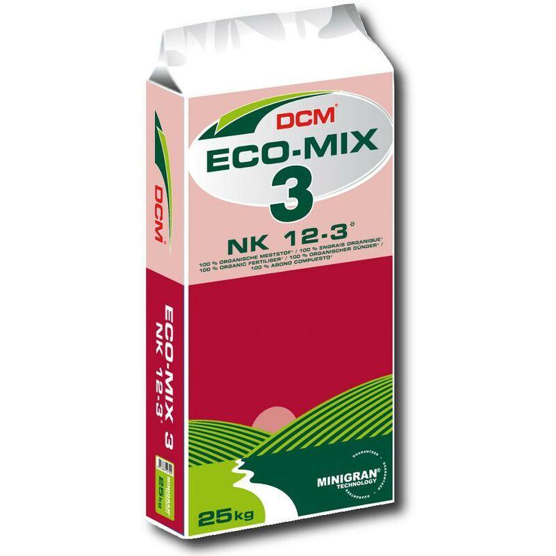 CUXIN DCM Profi Eco Mix 3 engrais 25 kg bio, légumes, fruits, pépinière, gazon, plantes, sport