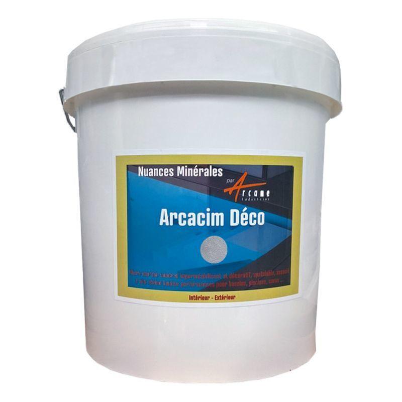 ARCANE INDUSTRIES Décoration piscine enduit de cuvelage finition béton ciré ARCACIM DECO - ARCANE INDUSTRIES - Titane - Gris clair - Kit de 16m²