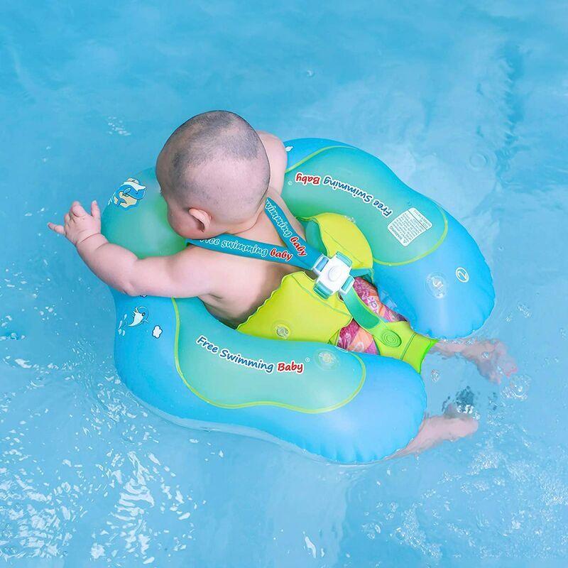 BEARSU Flotteur de natation gonflable pour bébé - Aide bébé à apprendre aux coups de pied et à nager - Pour enfants de 3 à 72 mois (vert, L)