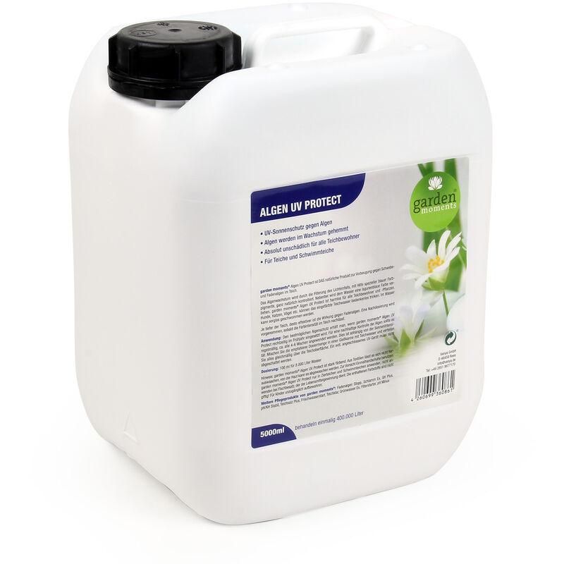 WILTEC garden moments Anti-algues Protection UV 5000ml Traitement 400.000l Eau Bassin Anti-Prolifération