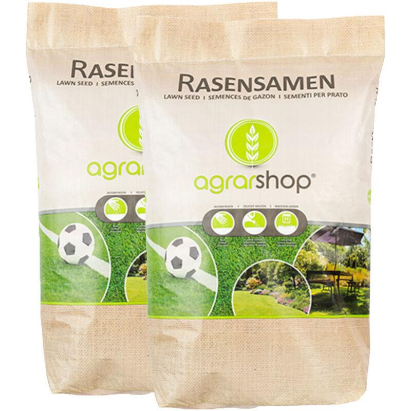 AGRARSHOP Graines à gazon pour zone sèche 20 kg Graines d'herbe Gazon Graines Pelouse de sport Gazons de jeu