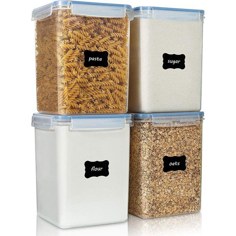 Briday - Grands contenants de conservation des aliments 5,2 L / 176 oz, 4 pièces Boîtes de conservation hermétiques en plastique sans BPA pour