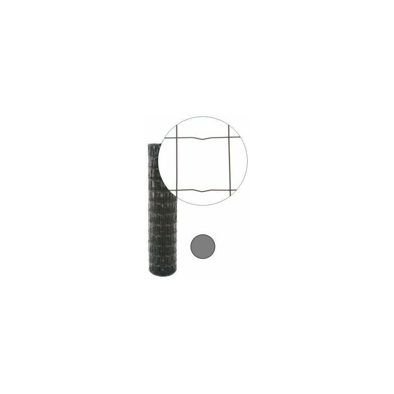 CLOTURE & JARDIN Grillage Soudé Gris Anthracite - JARDITOP - Maille 100 x 100mm - 1,5 mètre