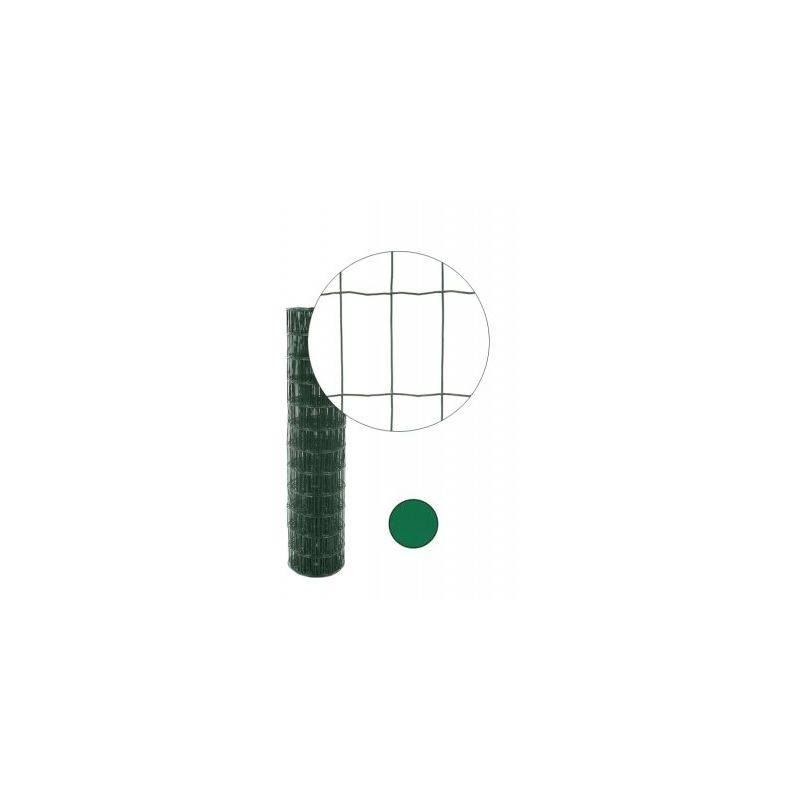 CLOTURE & JARDIN Grillage Soudé Vert - JARDIPREMIUM - Maille 100 x 50mm - 1 mètre