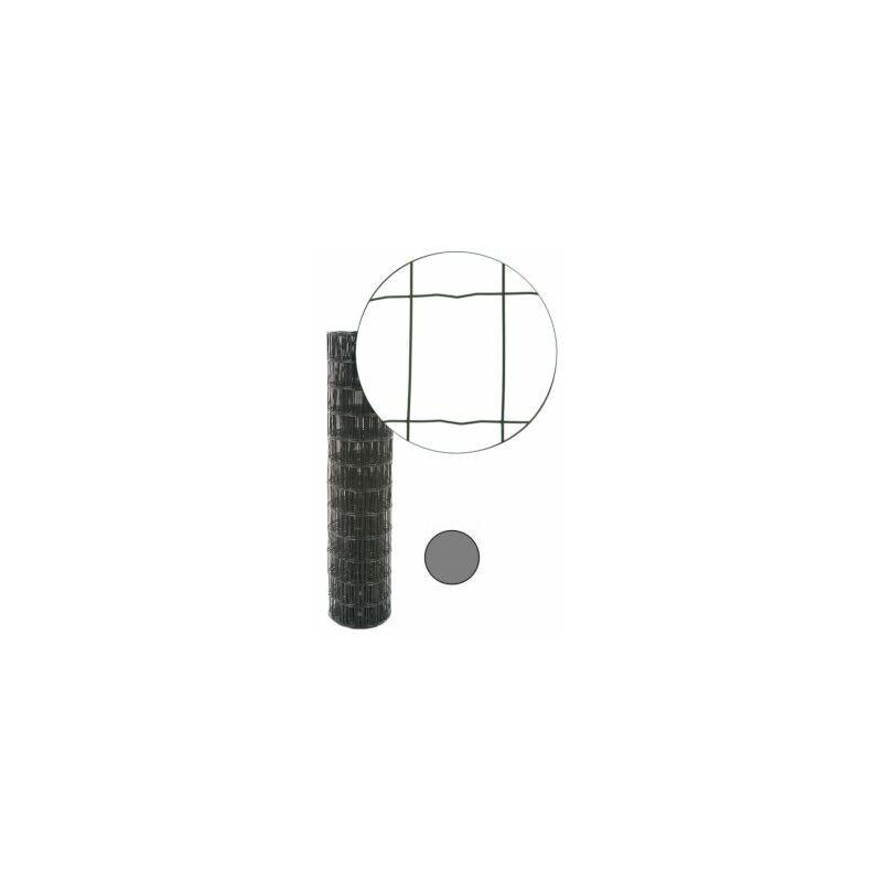 CLOTURE & JARDIN Grillage Soudé Gris Anthracite - JARDIMALIN - Maille 100 x 75mm - 1,5 mètre