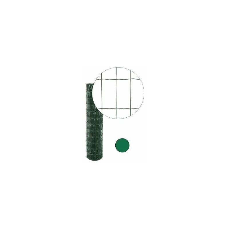 CLOTURE & JARDIN Grillage Soudé Vert - JARDIPRO - Maille 100 x 50mm - Triple lisière - 2 mètres
