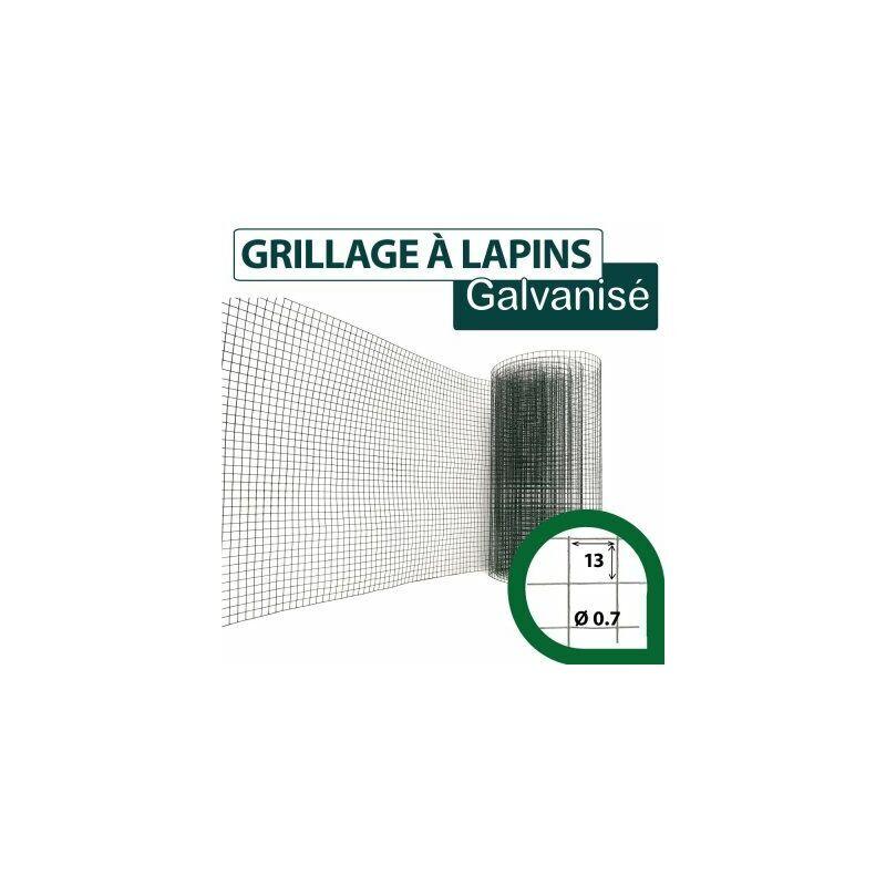 CLOTURE & JARDIN Grillage Soudé Vert - Maille Carrée 13mm - Longueur 25m - 1 mètre