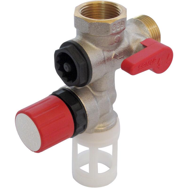 COMAP Groupe de sécurité 889 laiton droit pour chauffe eau, cumulus - 20x27 ou 3/4' - 889006-01 - Comap