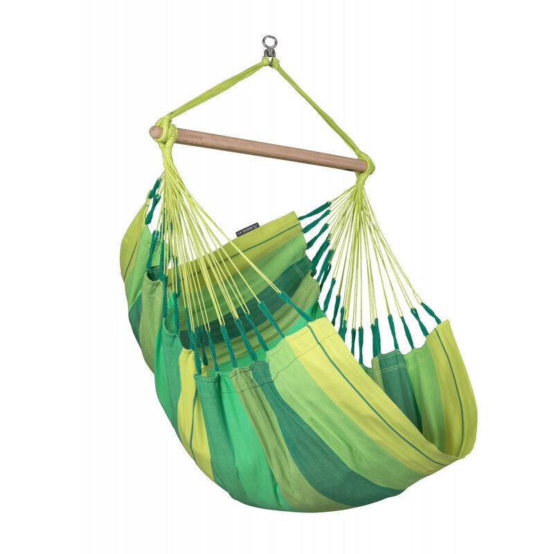 La Siesta - Habana Jungle - Chaise-hamac basic en coton bio - Vert