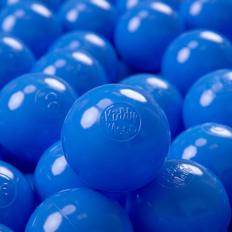 KIDDYMOON 50 ? 7Cm Balles Colorées Plastique Pour Piscine Enfant Bébé Fabriqué En EU, Bleu - Kiddymoon