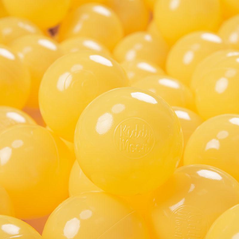 KiddyMoon 700 ? 7Cm Balles Colorées Plastique Pour Piscine Enfant Bébé Fabriqué En EU, Jaune