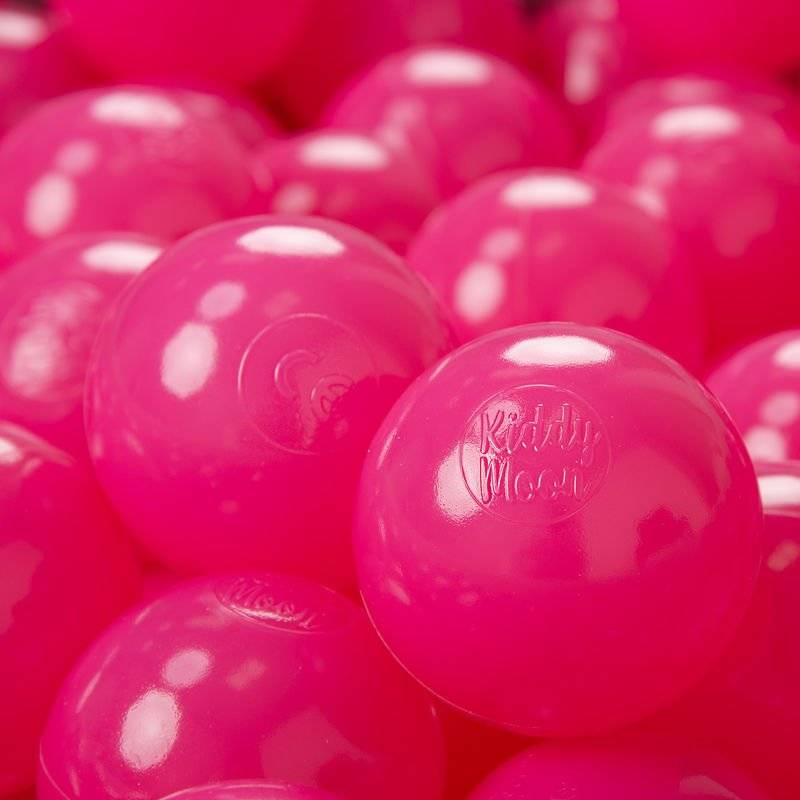 KIDDYMOON 200 ? 7Cm Balles Colorées Plastique Pour Piscine Enfant Bébé Fabriqué En EU, Rose Foncé - Kiddymoon