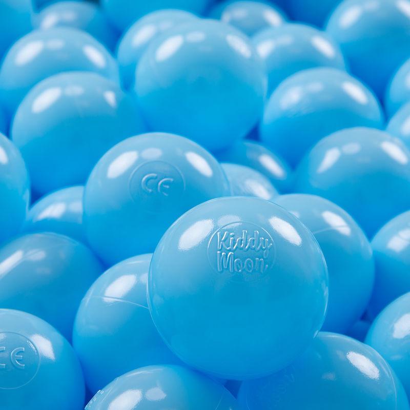 KIDDYMOON 200 ? 7Cm Balles Colorées Plastique Pour Piscine Enfant Bébé Fabriqué En EU, Baby Blue - Kiddymoon