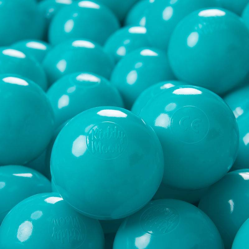 KIDDYMOON 100 ? 7Cm Balles Colorées Plastique Pour Piscine Enfant Bébé Fabriqué En EU, Turquoise - Kiddymoon