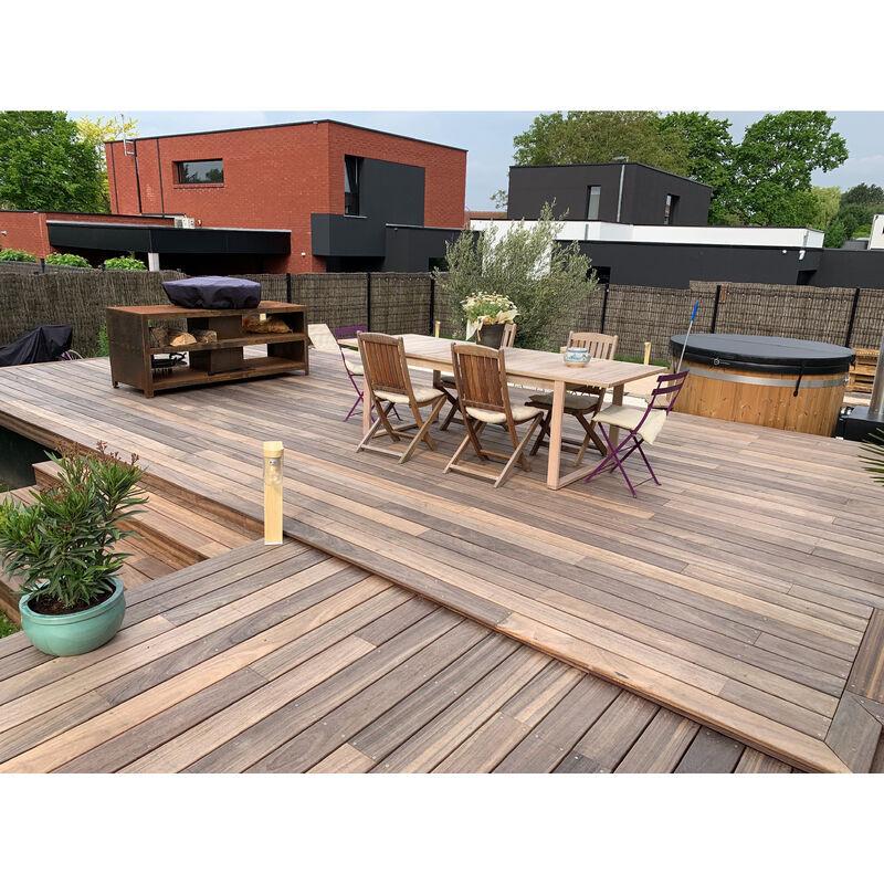 DOXWOOD KIT COMPLET   40m2 Terrasse Bois Exotique Padouk (compris Lambourdes, Visseries Et Livraison Sur Rendez-vous)