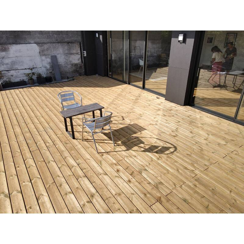 DOXWOOD KIT COMPLET   40m2 Terrasse Bois Pin Autoclave Classe 4 (compris Lambourdes, Visseries Et Livraison Sur Rendez-vous)