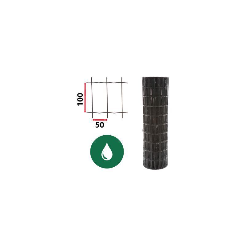 CLOTURE & JARDIN Kit Grillage Soudé Vert 50M - JARDIPREMIUM - Maille 100x50mm - 1,80 mètre