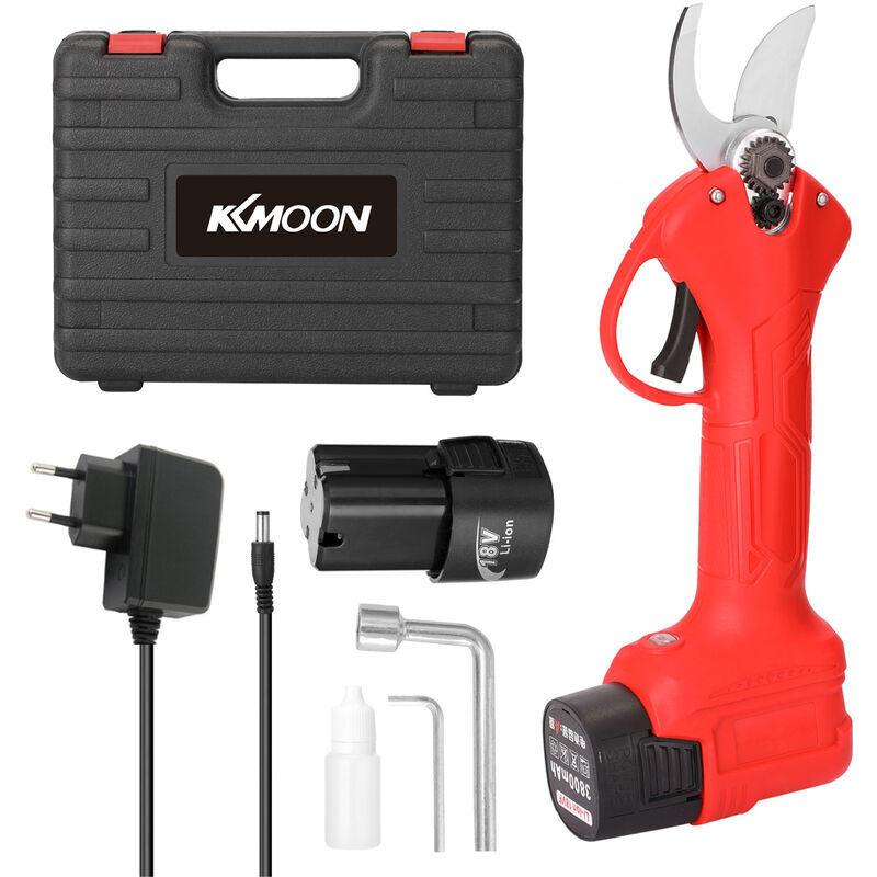 KKmoon 16.8V ciseaux electriques 500W secateur sans fil 25mm norme europeenne 220V, deux electriciteun chargerouge