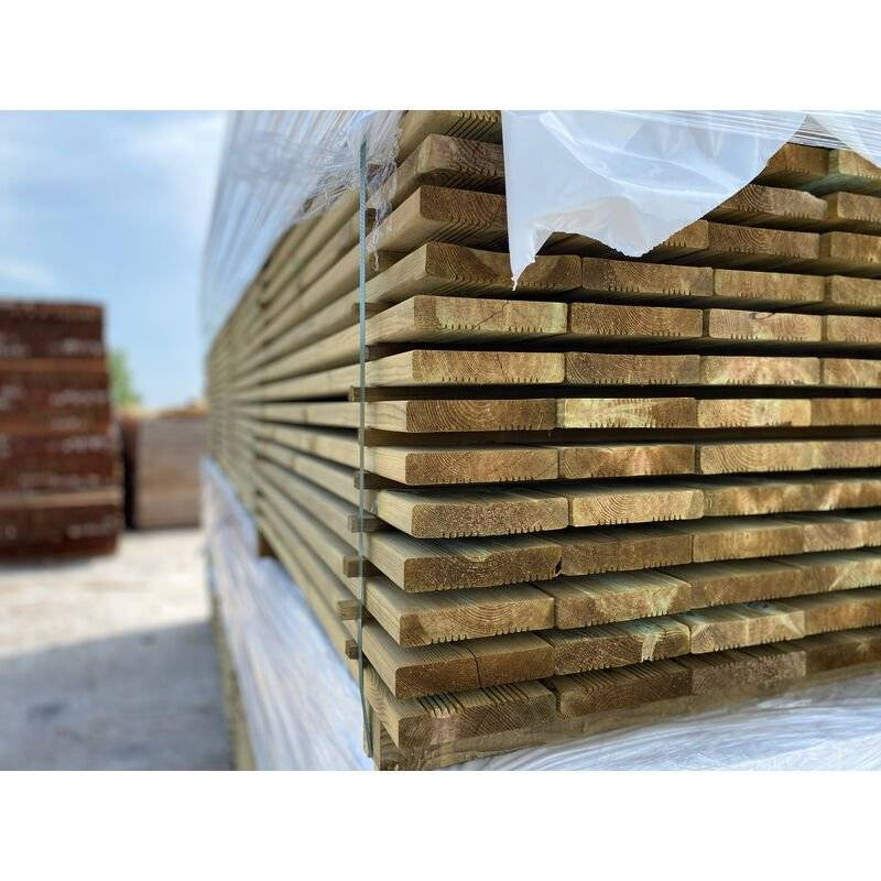 DOXWOOD LAMES   10m2 Terrasse Bois Pin Autoclave Classe 4 (compris Livraison Sur Rendez-vous)