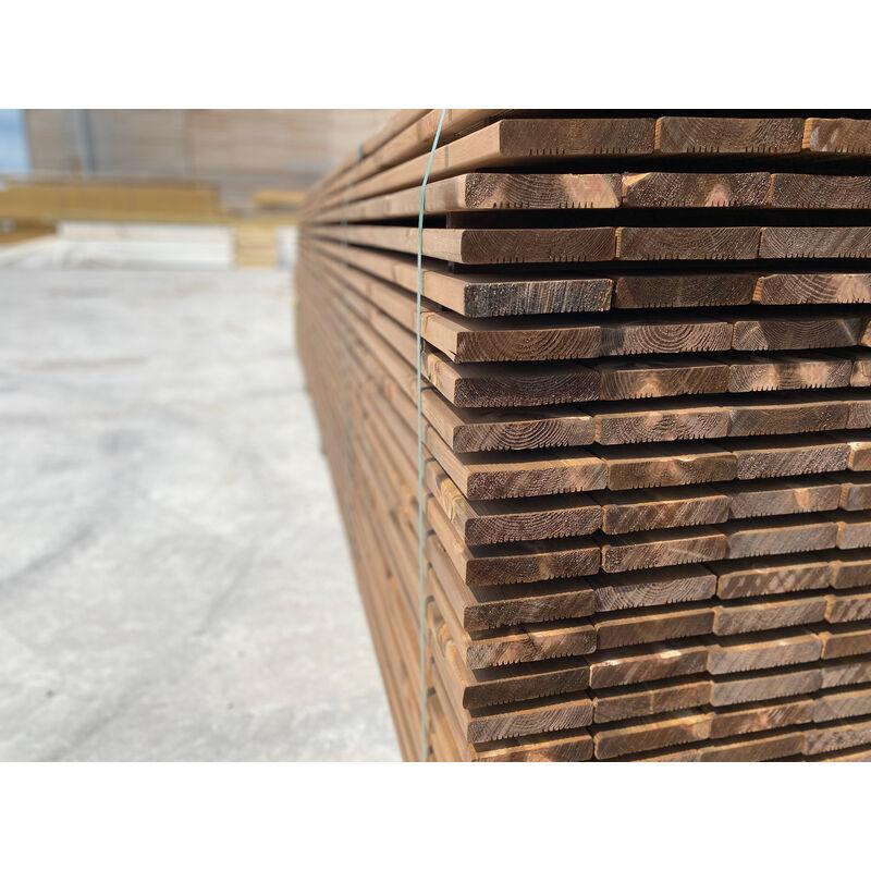 DOXWOOD LAMES   20m2 Terrasse Bois Pin Autoclave Brun Classe 3 (compris Livraison Sur Rendez-vous)