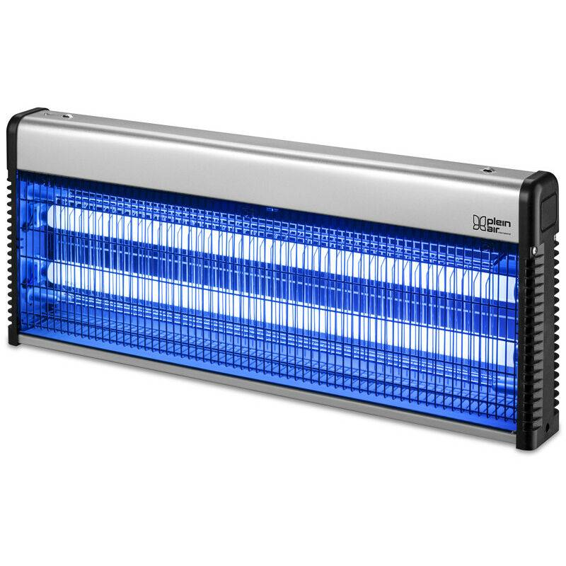 PLEIN AIR Lampe Anti-moustique ZAP 40W Ultra Violet Surfaces 150 m² Gris métal Tiroir récupérateur - Plein Air