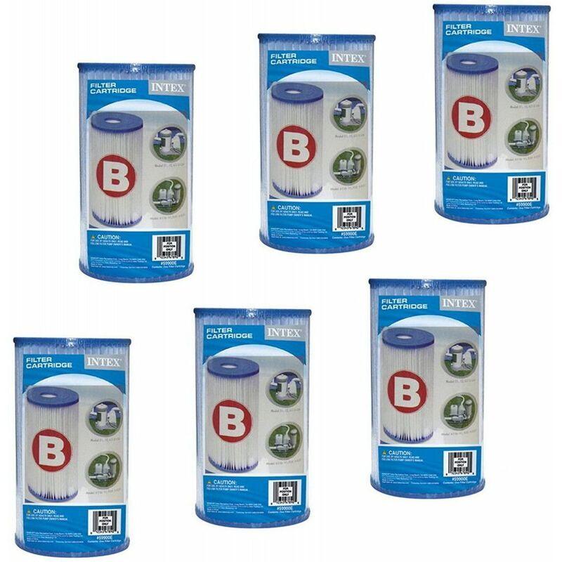 Intex Lot de 6 Cartouches de filtration pour piscine - type B - Intex - Livraison gratuite