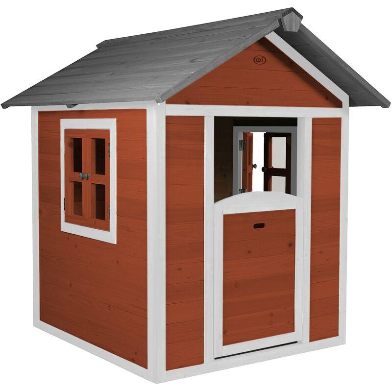 AXI Maison Enfant Beach Lodge en Rouge   Maison de Jeux en Bois FFC pour Les Enfants   Maisonnette / Cabane de Jeu pour Le Jardin