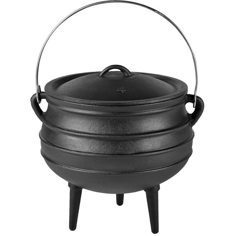 MELKO Four hollandais BBQ avec couvercle et lève-couvercle en fonte, marmite pour griller, rôtir, cuisiner, cuire au four ou pour des ragoûts, 8 litres