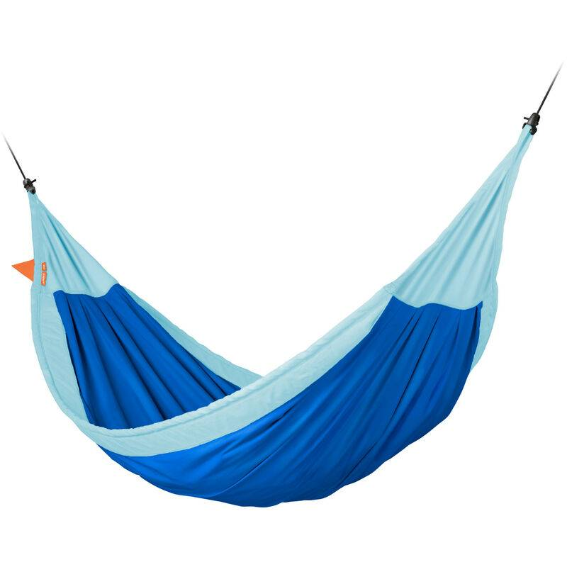 La Siesta - Moki Dolphy - Hamac enfant max en coton bio avec fixation - Bleu / turquoise