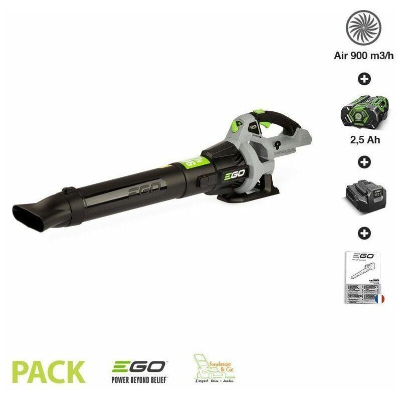 EGO POWER+ Pack pour souffler les feuilles EGOPOWER LB5301E batterie 56v chargeur inclus volume d air 900m3 - Gris
